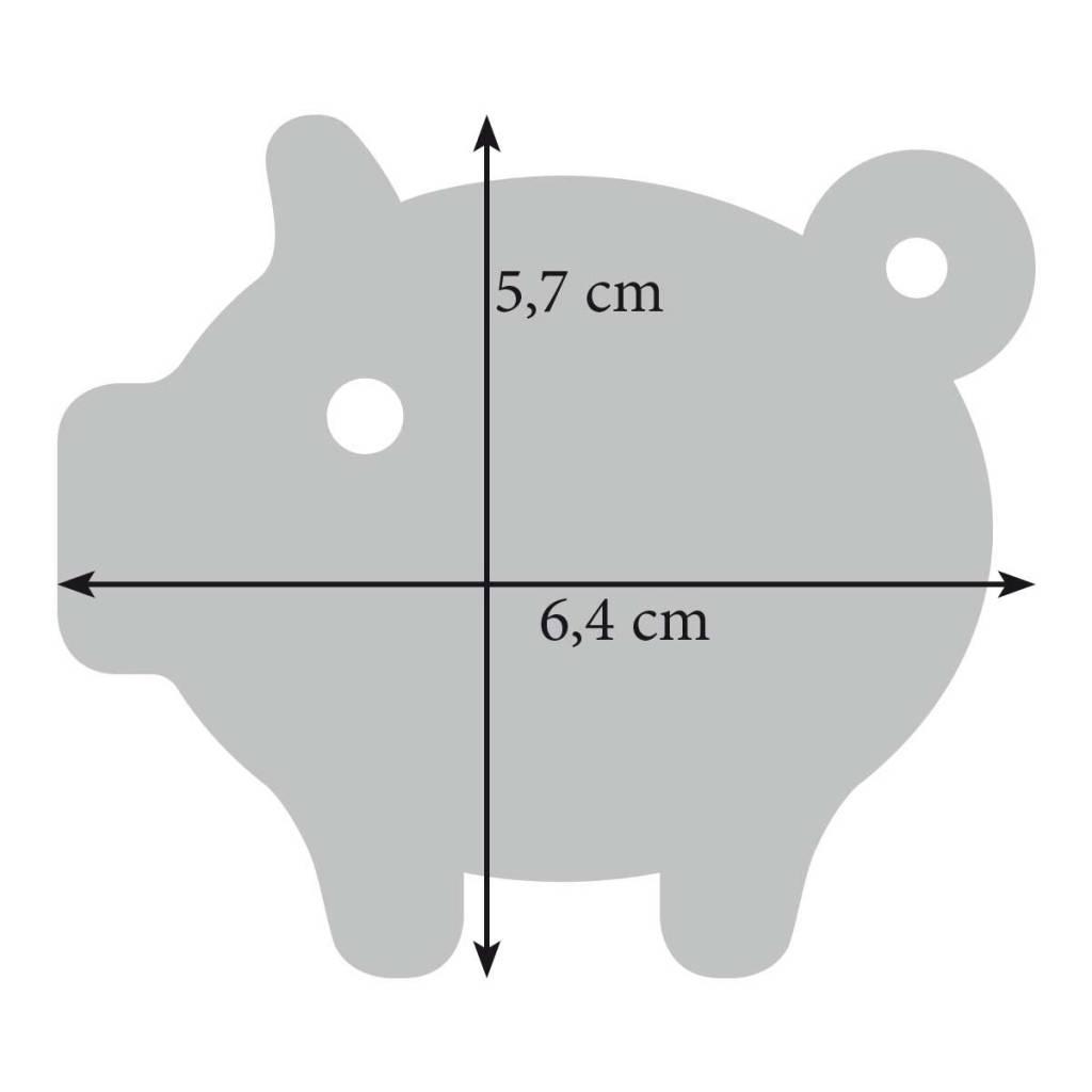 Filz Schlüsselanhänger Schwein, Glücksschwein, Schweinchen, Sau in grau, rot, pink (magenta), grün oder gelb