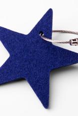Felt keychain star, starlet yellow, red, orange, green, blue, gray or pink (magenta)