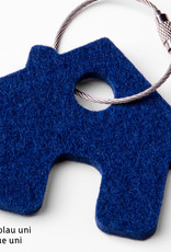 Felt keychain house in gray, red, orange, pink (magenta), blue, yellow or green