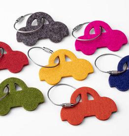 felt keychain car, 100% virgin wool, 5mm thick