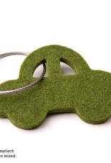 felt keychain car in gray, red, orange, pink (magenta), blue, yellow or green