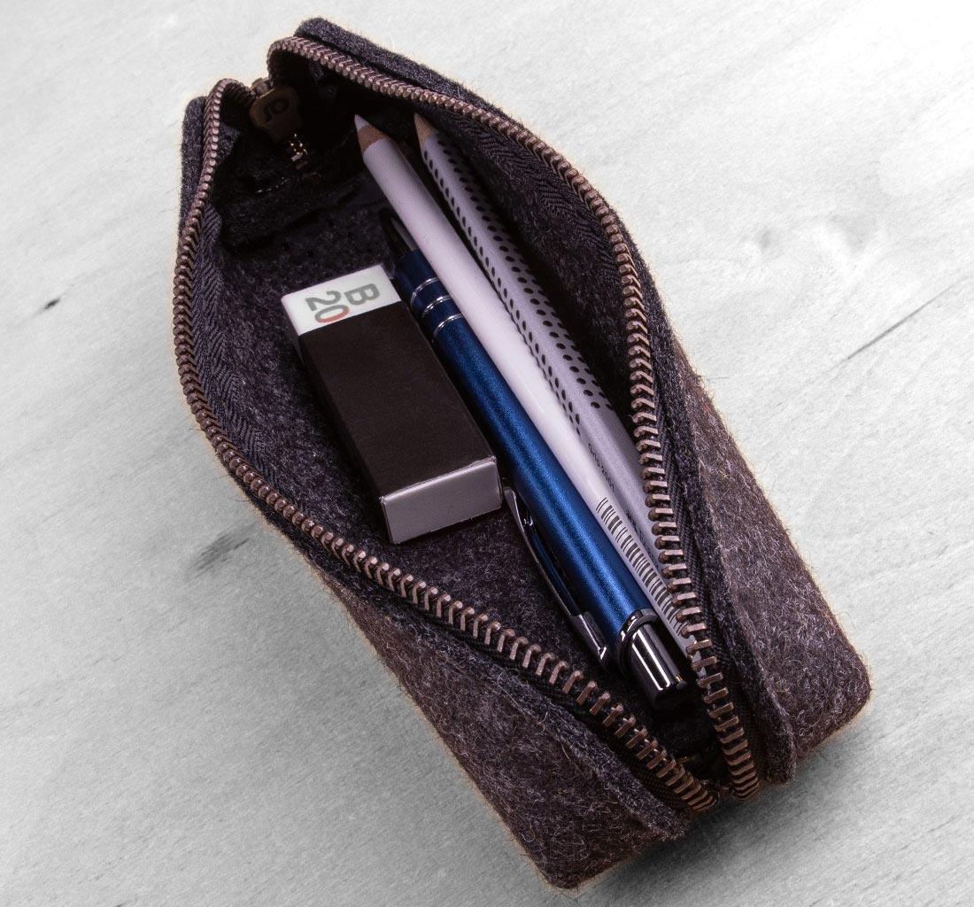 small felt pencil case / pouch SIEBENDING