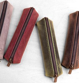 leather pencil case small SIEBENDING pouch
