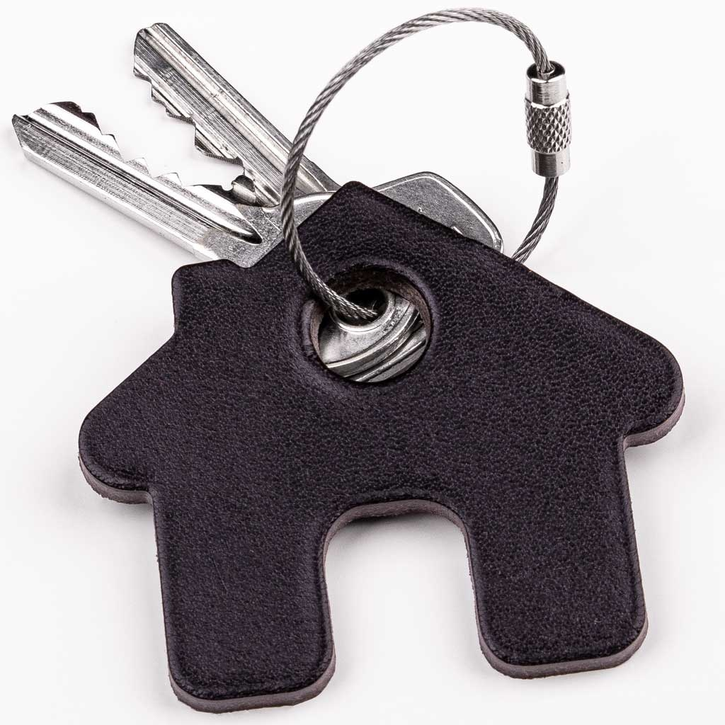 Keychain elephant, pig, crown, star, house or car from leather