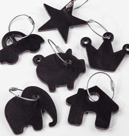 leather keychain black – different motifs to choose from