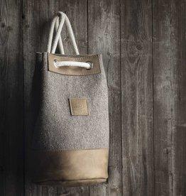 "duffel bag, backpack MEERWERK felt nature mixed / leather ""hazel"""