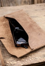leather glasses case brown WERKSCHUTZ from vintage leather