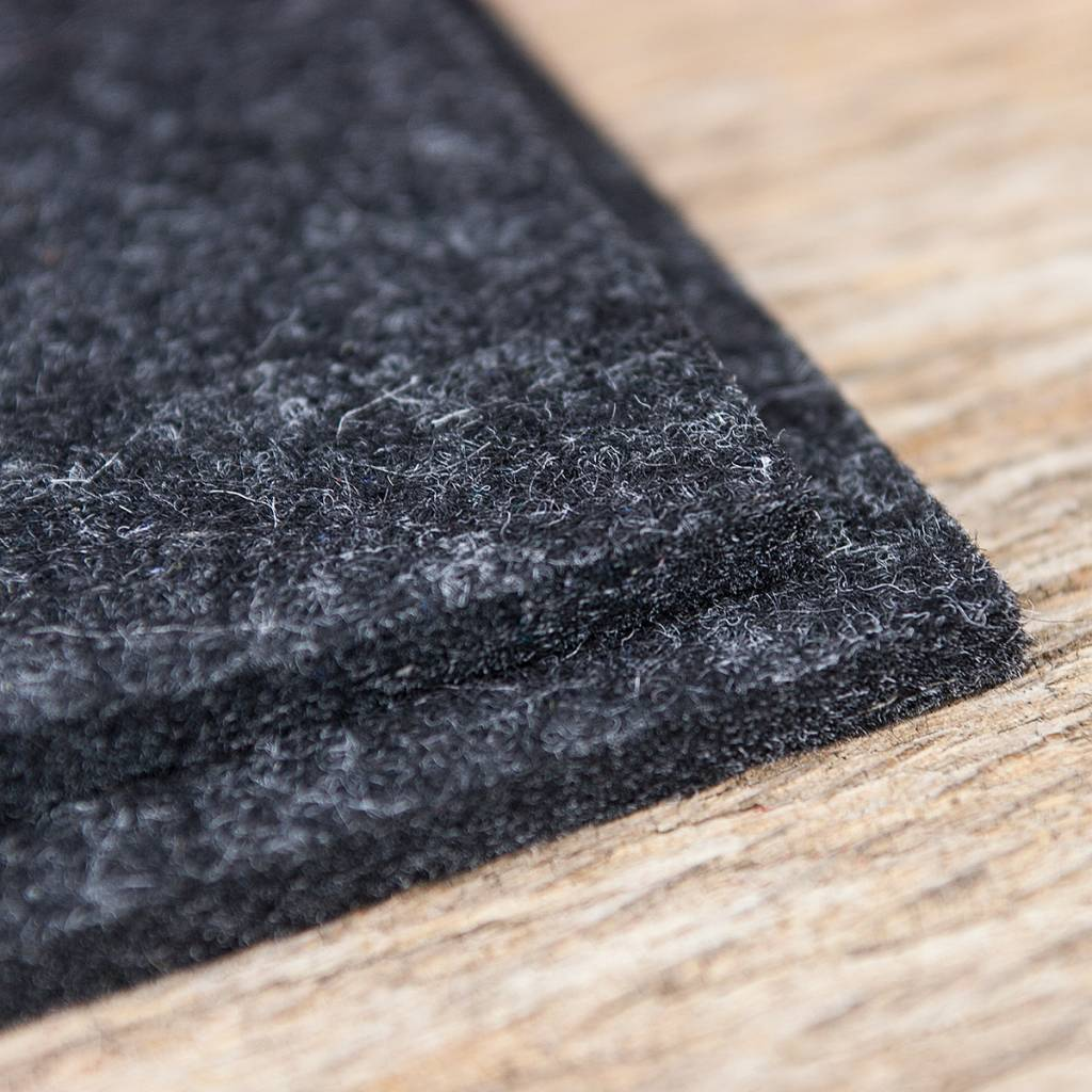 Felt placemats rectangle anthracite mixed
