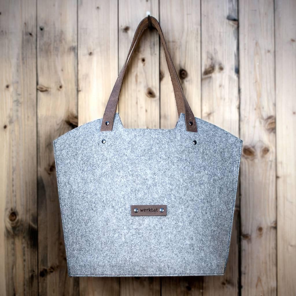 felt shopper bag