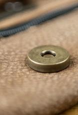 Shoulder Bag, Hobo Bag soft, gentle buffalo skin with 70ies Vintage-Look, Beutesack WT0116, brown caramel