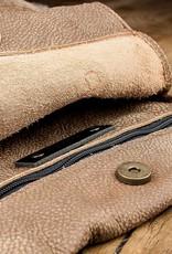 """Schultertasche, Hobo Bag, Sommertasche aus weichem, knautschigem Büffel-Leder mit 70er-Jahre Vintage-Look, Ledertasche """"Beutesack"""" braun caramel"""