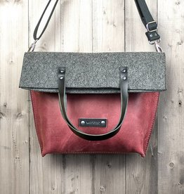 CHARAKTERSTÜCK red leather & felt, crossbody bag messenger bag
