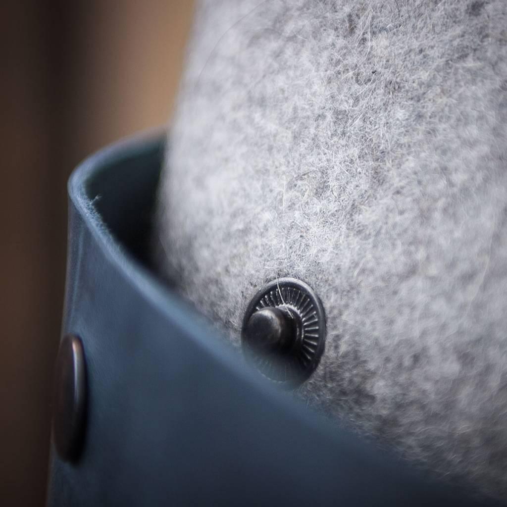shoulder bag, blue leather and felt for women CHARAKTERSTÜCK
