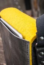 Messenger Bag, Filz, Leder schwarz, Umhängetasche, Filztasche, Ledertasche, Werksbote Max