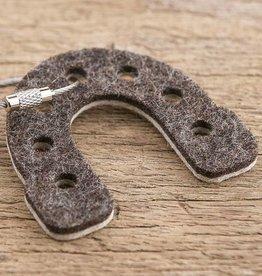 felt keychain lucky horseshoe, 100% virgin wool