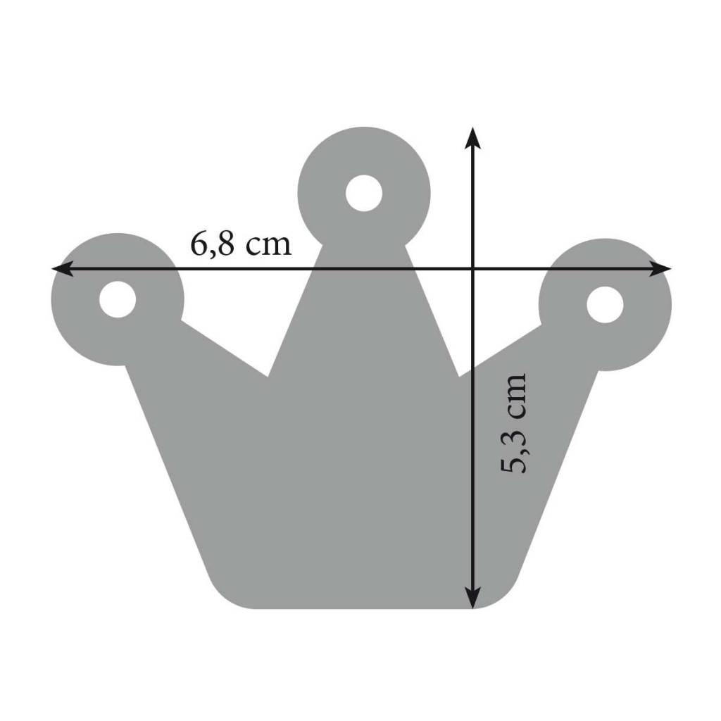 Anhänger zum Junggesellinnenabschied: Filz Schlüsselanhänger Krone, Krönchen, pink uni mit Stahlseil