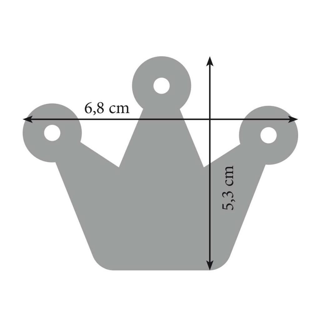 Filz Schlüsselanhänger Krone, Krönchen in pink, gelb, rot, lemon oder orange