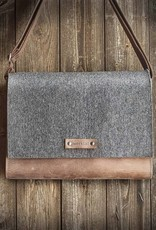 Messenger Bag, felt, leather brown, shoulder bag, tucker bag, Werksbote Max
