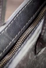 Schultertasche Leder schwarz mit Filz, Ledertasche, Filztasche Damen, RESULTAT Leder vegetabil gegerbt