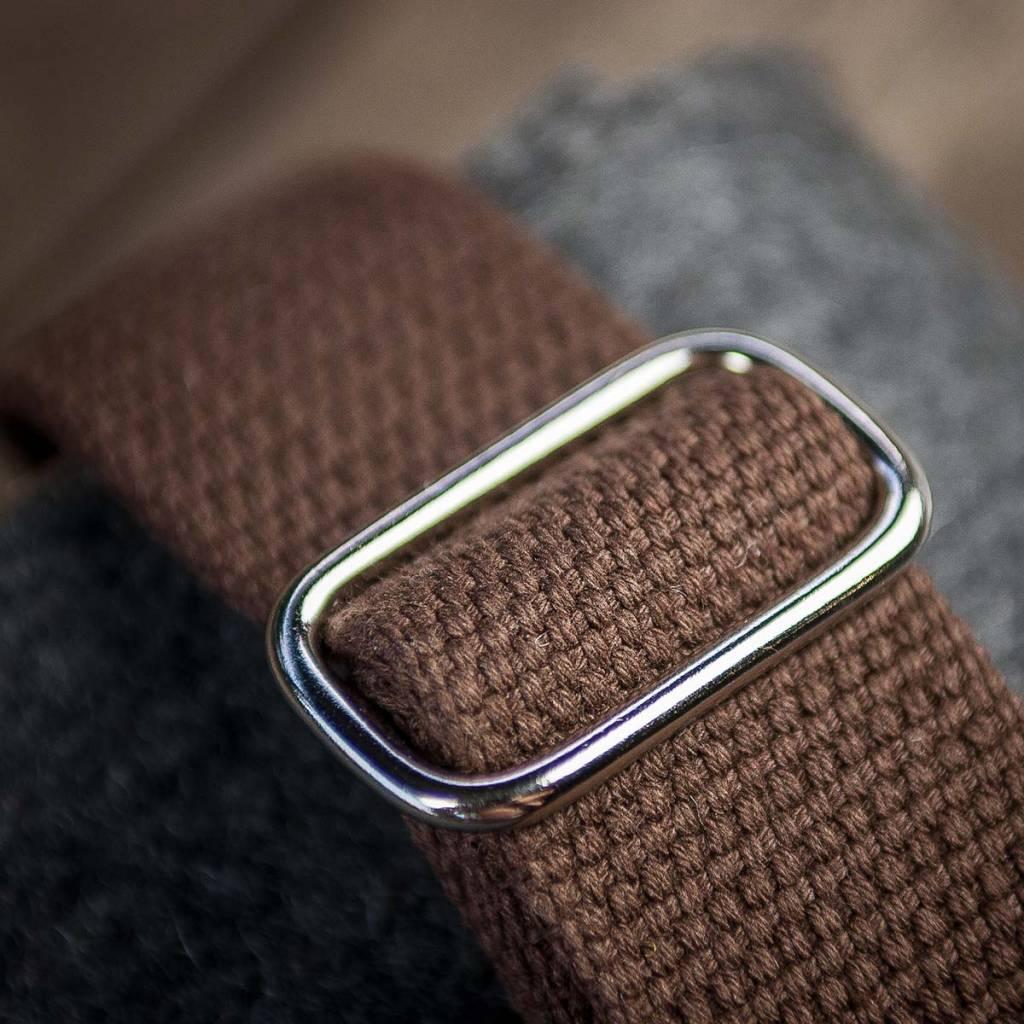Umhängetasche aus grauem Filz & braunem Leder, Filztasche Ledertasche WERKSBOTE FRITZ für Männer und Frauen