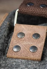 Messenger bag, felt, leather brown, shoulder bag, tucker bag, Werksbote Karl der Große