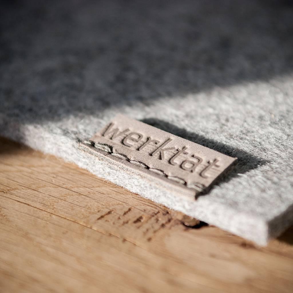 mouse pad, mat felt gray mixed