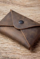 "Visitenkartenetui Leder braun, Etui für Visitenkarten, Kartenetui ""Erstkontakt"", ""chocolate"""