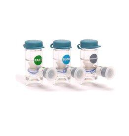 Nortev Flexineb 2 medicatie cup - 3-pack (grijze + groene + blauwe cups)