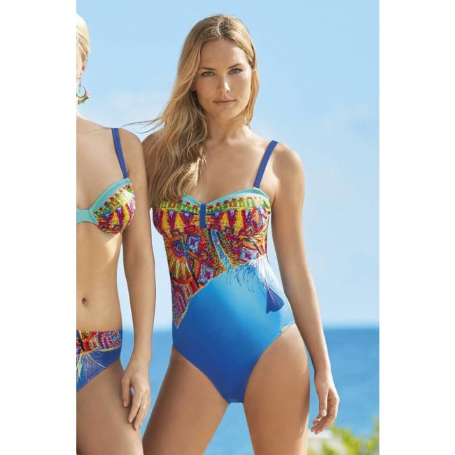 Sunflair Swimsuit Orange Laguna Blue/Green