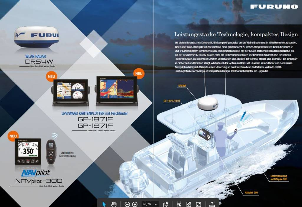 CHARTPLOTTER  WITH  FISHFINDER   GPS  AND  MORE