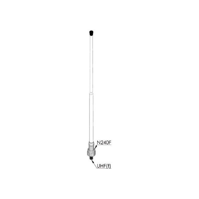 AC Antennas CX-4 VHF antenne glasfiber wit