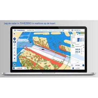 FURUNO RIVIERRADAR  PC NAVIGATIE met PC Radar Module software  en kaart  van TIMEZERO
