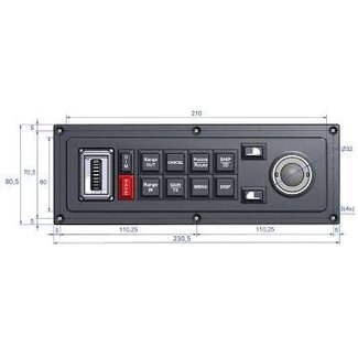 MaxSea Keyboard MCP-10 for MaxSea TimeZero (horizontal)