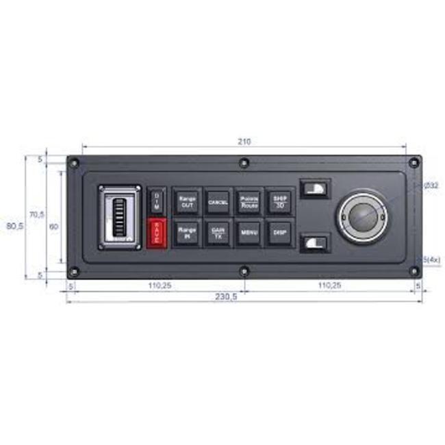 MaxSea Keyboard MCP-10 for MaxSea TimeZero (horizontal)