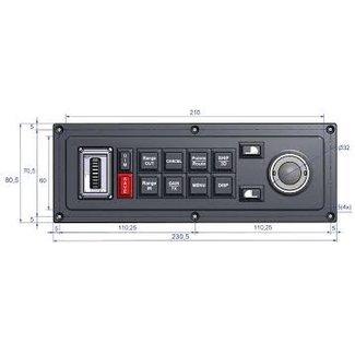 MaxSea Keyboard MCP-20 voor MaxSea TimeZero (verticaal)