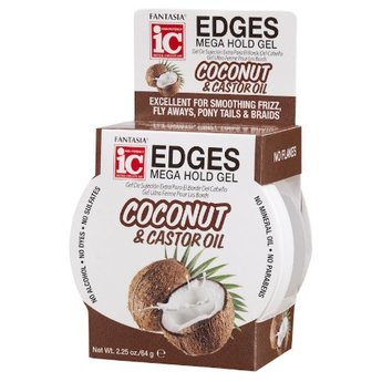 FANTASIA IC Edges Mega Hold Gel Coconut & Castor Oil 2.25 oz