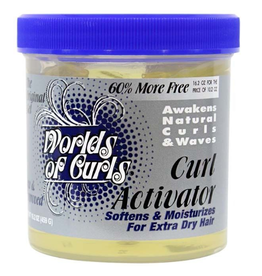 WORLDS OF CURLS Curl Activator for Extra Dry Hair 16.2 oz