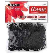 Annie Rubber Bands  - black - 300 pcs.