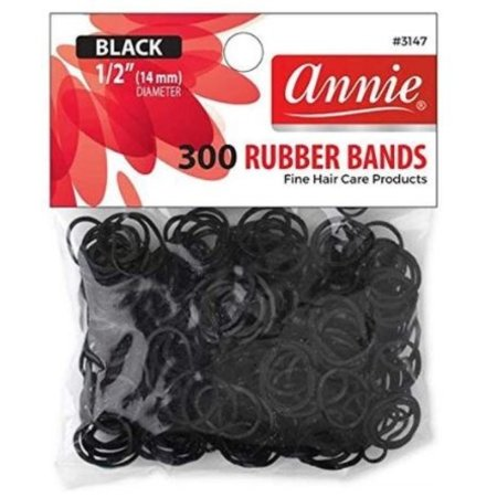 Annie Rubber Bands  - black - 300 pcs.
