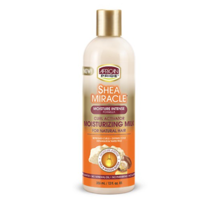 AFRICAN PRIDE SHEA BUTTER MIRACLE Shea Miracle Moist. Milk 12 oz