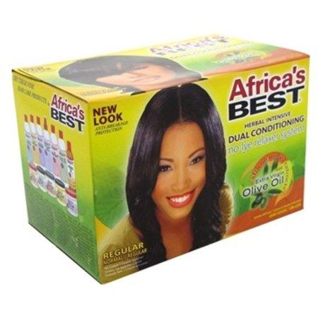 AFRICA'S BEST Olive Oil No-Lye Relaxer System Regular
