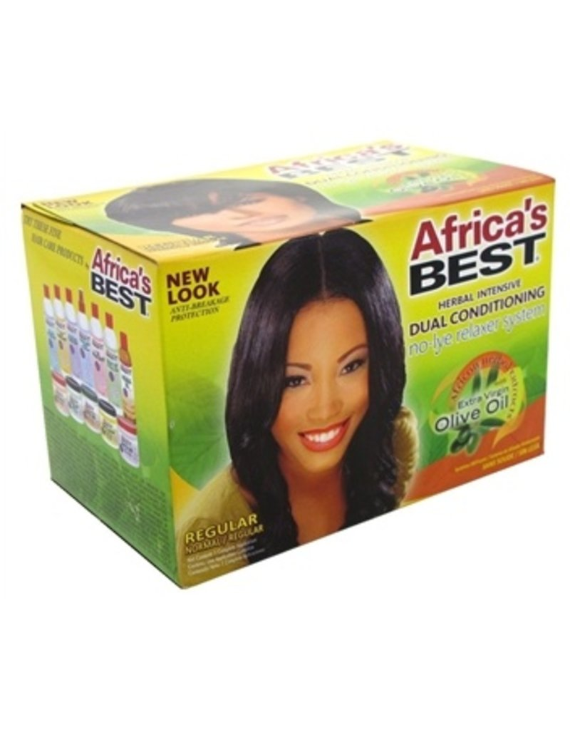 AFRICA'S BEST Olive Oil No-Lye Relaxer System Regular