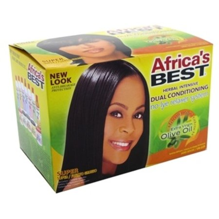 AFRICA'S BEST Olive Oil No-Lye Relaxer System Super