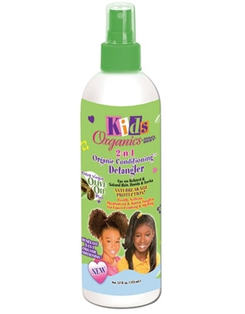 AFRICA'S BEST KIDS ORGANICS 2-n-1 Organic Conditioning Detangler 12 oz