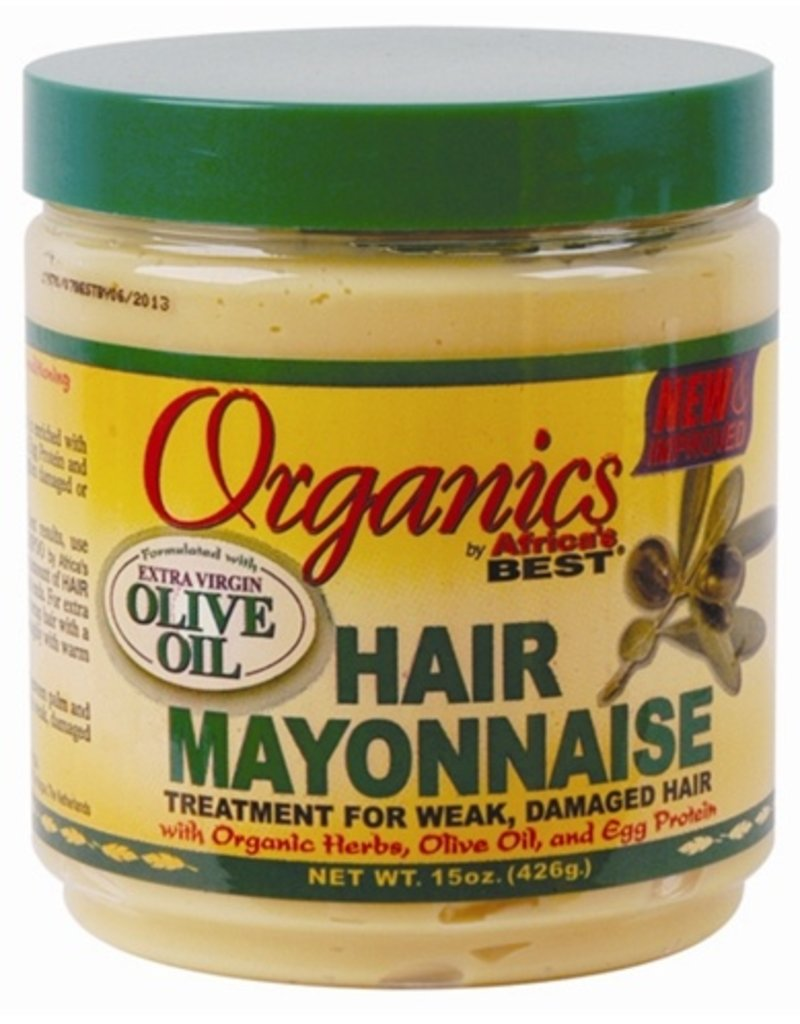 AFRICA'S BEST ORGANICS Olive Oil Hair Mayonnaise 15 oz