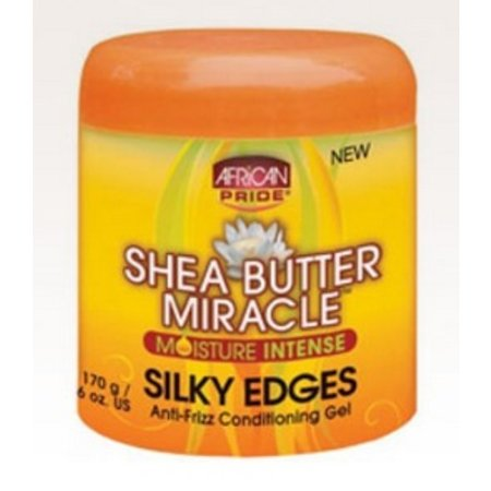 AFRICAN PRIDE SHEA BUTTER MIRACLE Silky Edges Conditioning Gel 6 oz