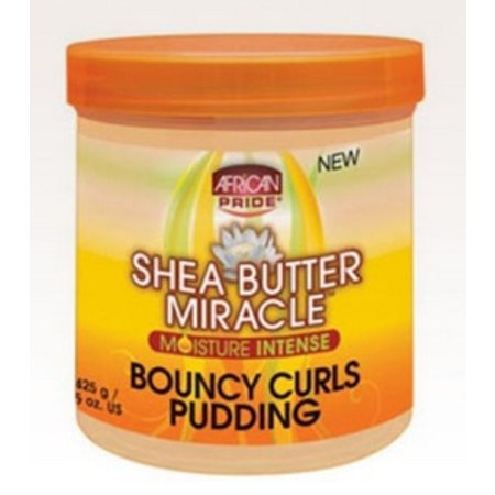 AFRICAN PRIDE SHEA BUTTER MIRACLE Bouncy Curls Pudding 15 oz