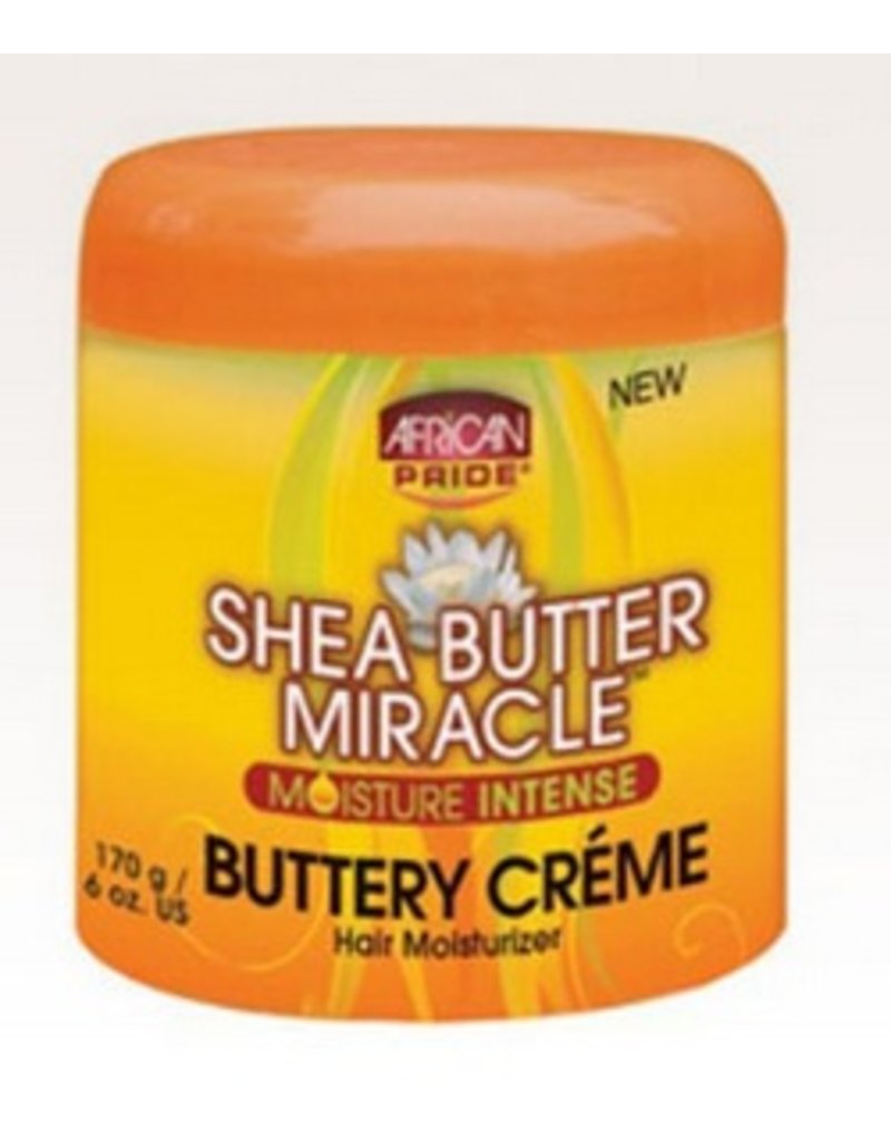 AFRICAN PRIDE SHEA BUTTER MIRACLE Buttery Creme Hair Moisturizer 6 oz