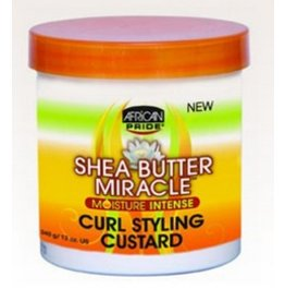 AFRICAN PRIDE SHEA BUTTER MIRACLE Curl Styling Custard 12 oz