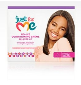 JUST FOR ME No-Lye Conditioning Relaxer Kit - Super